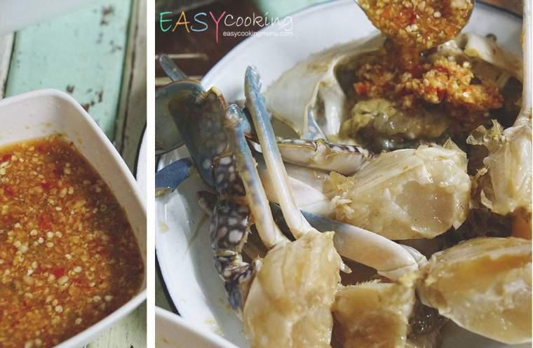 พิซซ่ากุ้งปูม้าดองน้ำปลา+น้ำจิ้มสูตรเด็ด
